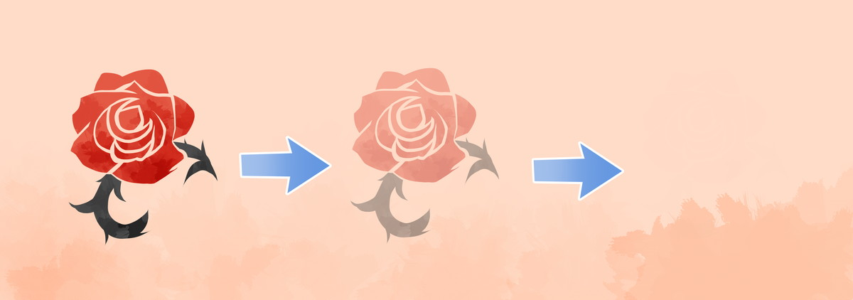 レーザーによる刺青(タトゥー)除去のしくみイメージ